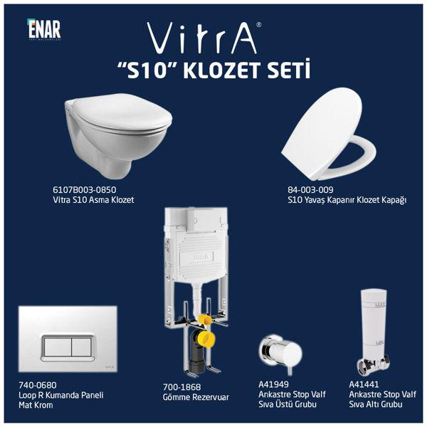 Vitra S10 6107B003-0850 Klozet Seti