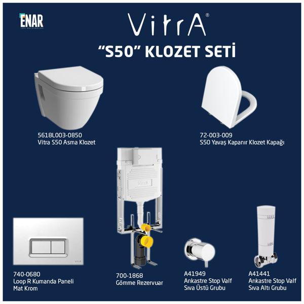Vitra S50 5618L003-0850 Klozet Seti