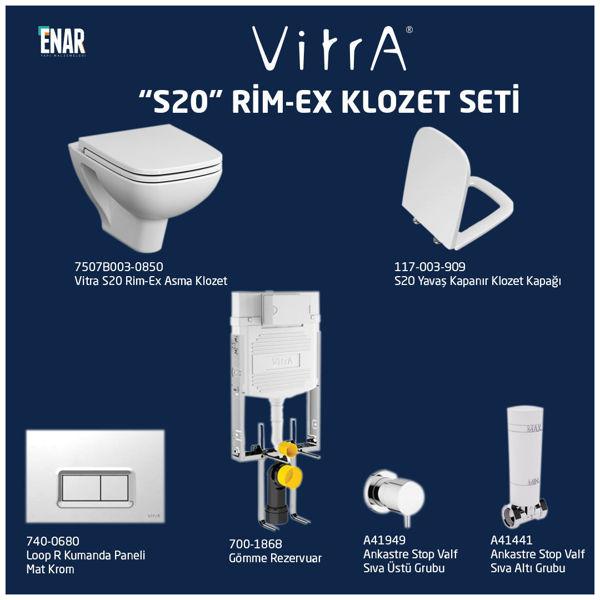 Vitra S20 7507B003-0850 Klozet Seti