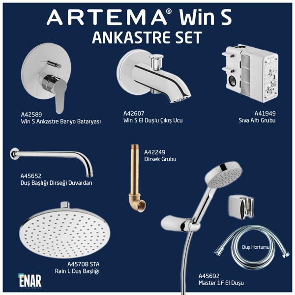 Artema Win S Ankastre Banyo Seti