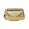 Vitra Water Jewels 4441B472-2100 Kare Çanak Lavabo, 40cm, Altın,Desenli, Vitra Clean