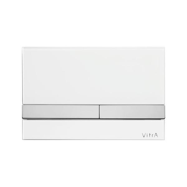 Vitra Select 740-1100 Kumanda Paneli,Beyaz Cam Krom