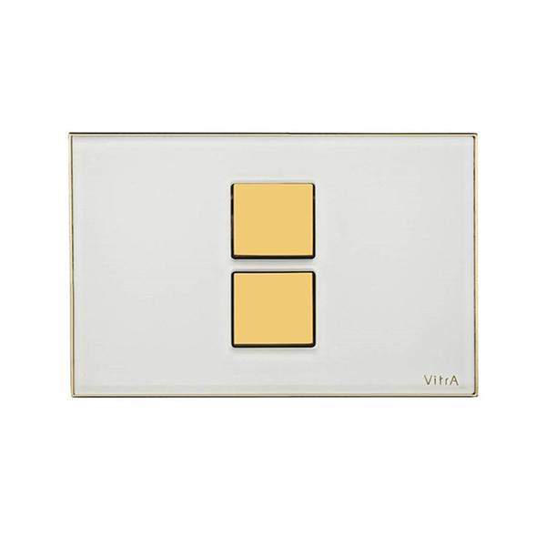 Vitra Twin 2 740-0102 Kumanda Paneli Beyaz , Altın
