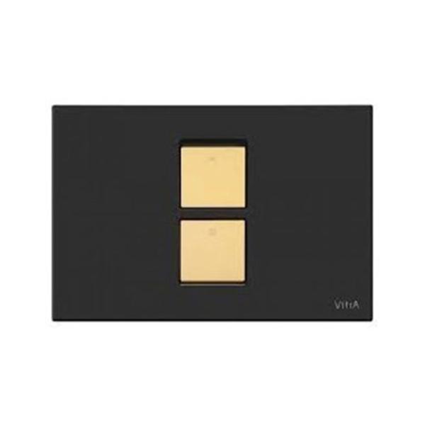 Vitra Twin2 740-0321 Kumanda Paneli Cam Siyah Altın