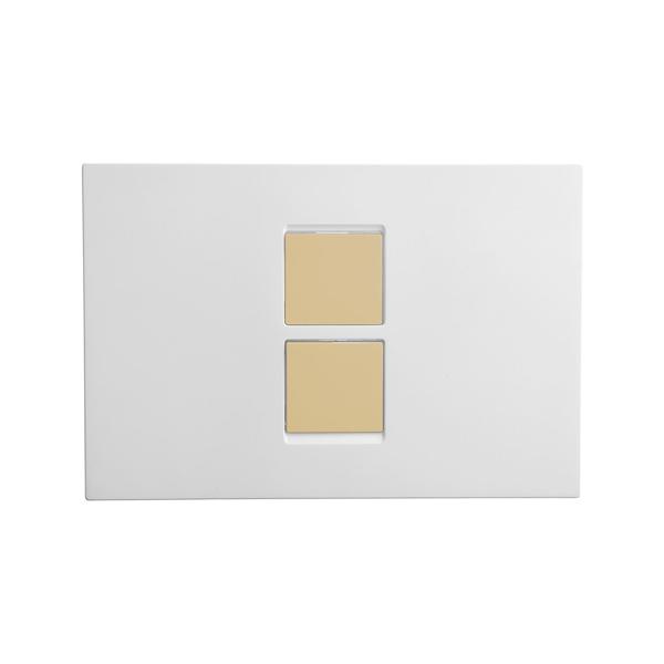 Vitra Twin 2 748-0102 Kumanda Paneli Beyaz ,Altın