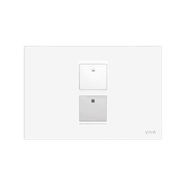 Vitra Twin 2 748-0101 Kumanda Paneli Beyaz ,Krom