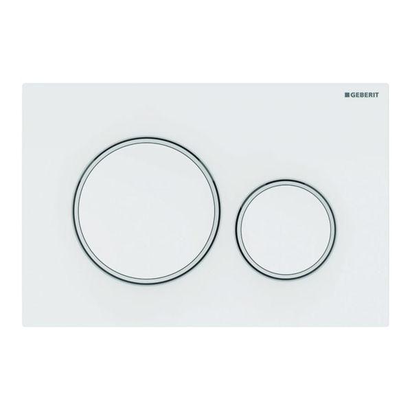 Geberit Sigma20 115.882.01.1 Kumanda Kapağı,Çift Basmalı, Mat Beyaz/Parlak Beyaz/ Mat Beyaz