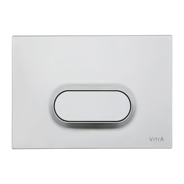 VitrA Loop O 740-1085 Tek Basmalı Kumanda Paneli, Mat Krom