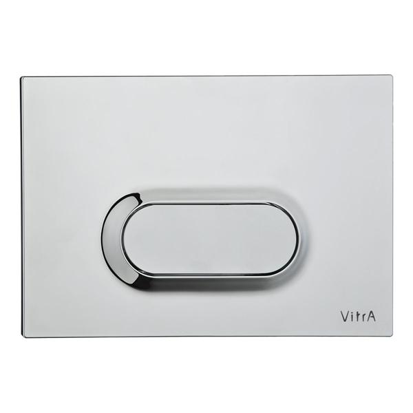 VitrA Loop O 740-1080 Tek Basmalı Kumanda Paneli, Parlak Krom