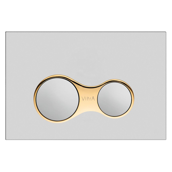 VitrA Sirius 740-0423 Kumanda Paneli,Çift Basmalı, Mat Krom/Altın