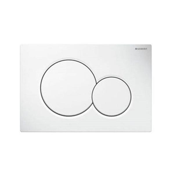 Geberit Alpha01 115.035.11.1 Kumanda Kapağı, Çift Basmalı,Beyaz