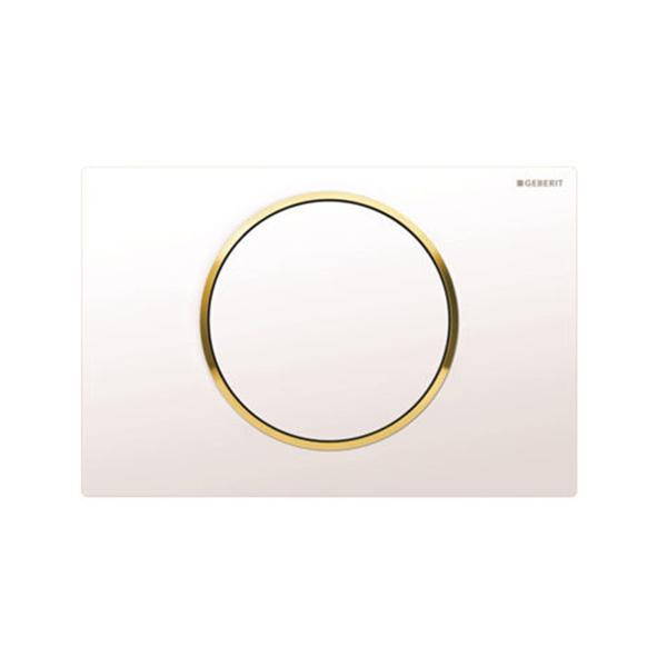 Geberit Sigma10 115.758.KK.5Kumanda Kapağı,Tek Basmalı,Beyaz/Altın/Beyaz