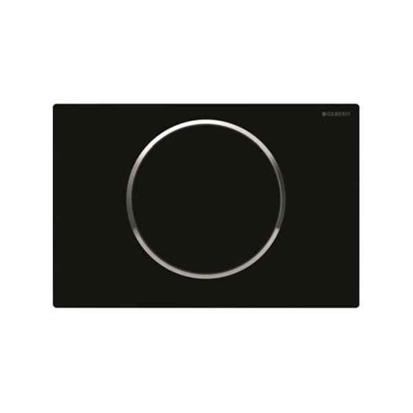 Geberit Sigma10 115.758.KM.5 Kumanda Kapağı,Tek Basmalı,Siyah/Parlak/Siyah