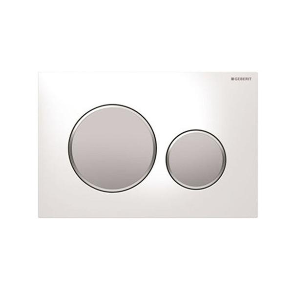Geberit Sigma20 115.882.KL.1 Kumanda Kapağı,Çift Basmalı,Beyaz/Mat/Mat