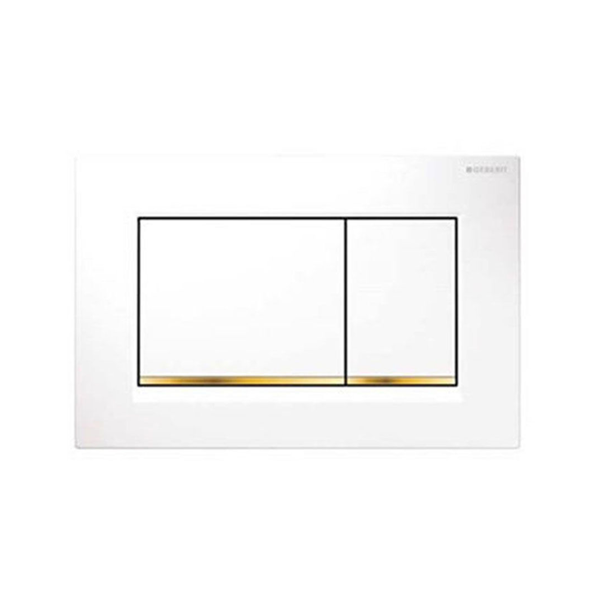 Geberit Sigma30 115.883.KK.1 Çift Basmalı Beyaz/Altın/Beyaz