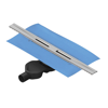 VitrA 5701682 Clear-Cut  V-Flow 040 Duş Kanalı,Parlak Yandan S H:80